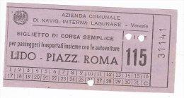 Venezia Biglietto Ticket Traghetto ACNIL Anni 60-70 - Schiffstickets