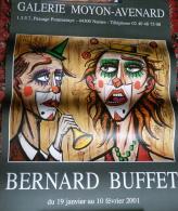 """AFFICHE  BERNARD BUFFET        """" CLOWNS """" - Affiches"""
