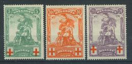 VEND BEAUX TIMBRES DE BELGIQUE N° 126 - 128 , NEUFS !!!! - 1914-1915 Red Cross