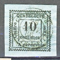 Guadeloupe Tasse 1884 N. 7 C. 10 Azzurro USATO - Guadalupe (1884-1947)