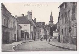 Cpa SEMUR Rue Du Bourg Voisin Imprimerie ANIMEE - Ed Clerc Darcy - Semur