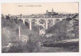 Cpa SEMUR Le Viaduc Et La Ville - Semur
