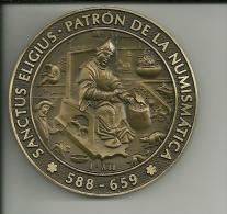 MEDALLAS  - ESPAÑA - CANARIAS - REUNIÓN ANUAL DE SAN ELOY - P ATRÓN NUMISMÁTICA - LAS PALMAS GC. - DIÁMETRO 58 M. - España