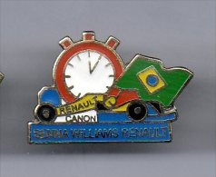 PINS PIN´S AUTO SENNA RENAULT WILLIAMS CHRONO CANON BRAZIL EGF - Automobile - F1