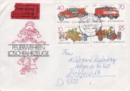 DDR Eil-Brief Mi.-Nr. 3101-3104 - Stempel Tangerhütte (0283) - Briefe U. Dokumente