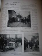 1902 AUTOMOBILE CIRCUIT DU NORD / MOTOCYCLETTE WERNER / TIR AU PIGEON DE MORLAYE / CHEVAUX RUSSES  / ESCRIME FRANCAISE. - Livres, BD, Revues