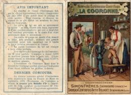 CHROMO  NOUVELLE ECREMEUSE CENTRIFUGE LA COURONNE  Simon Frères  Cherbourg   = - Chromos