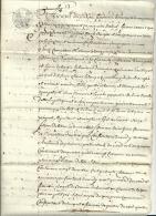 Acte Notarié Napoleon 1er Charente Chefboutonne 4 Pages - Manuscripts