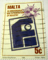 Malta 1996 50th Anniversary Of Malta Federation Of Industry 5c - Used - Malta