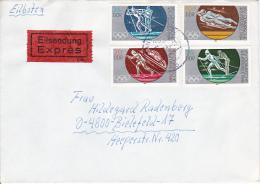 DDR Eil-Brief Mi.-Nr. 2839-2842 - Stempel Tangerhütte (0329) - Briefe U. Dokumente