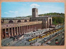 Stuttgart  / Railway Station / Tramway  1966 Year / Car - Stuttgart
