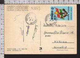 B8849 SEYCHELLES Postal History 1978 LIBERATION DAY 5 JUNE CAPE BARBIE LA DIGUE - Seychelles (1976-...)