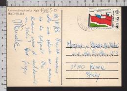 B8850 SEYCHELLES Postal History 1989 BICENTENAIRE DE LA REVOLUTION FRANCAISE LA DIGUE - Seychelles (1976-...)