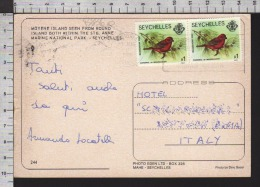 B8860 SEYCHELLES Postal History 1986 ANIMAL BIRD CARDINAL DE MADAGASCAR - Seychelles (1976-...)