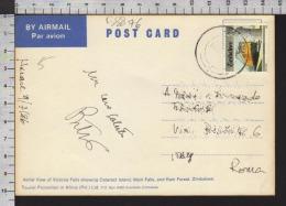B8876 ZIMBABWE Postal History 1986 ELETRIC TRAIN VICTORIA FALLS - Zimbabwe (1980-...)
