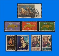 IE 0001-0001, Collection Of 8 Used Stamps In Different Themes - Ireland