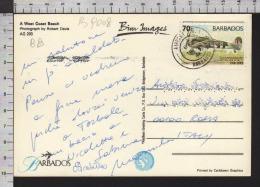 B9008 BARBADOS Postal History 1995 ANNIVERSARY ROYAL AIR FORCE AIRPLANE - Barbados (1966-...)