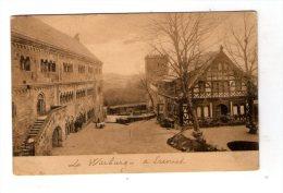 Cp , ALLEMAGNE , Der Zweite Hof In Der WARTBURG , Ed : Mattheus , Vierge - Warburg