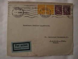 Finlande Lettre Recommandée HELSINKI Pour PARIS France 1938 - Finlandia