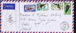 1969  Lettre Avion Pour La France  Oiseaux: Yv 352, 354, 349 Coquillage Yv  PA 358 - Briefe U. Dokumente