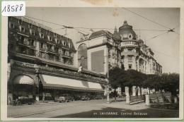 LAUSANNE: Hôtel Central- Bellevue. Voiture.( Petite Tache.) - VD Vaud