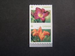 CANADA 2012  FLOWERS COIL       MNH **   (Q10-097/015) - 1952-.... Règne D'Elizabeth II