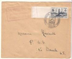 LETTRE COMMANDO BRITANNIQUE PREMIER JOUR SAINT-NAZAIRE 2 AOUT 1947. COTE 40 EUROS. - Brieven En Documenten