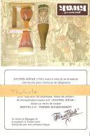 Pauwel Kwak- Bière De Cocher- Publicité De Table -Histoire-Manage-Tellin- Dendermonde-Recto-Verso-20x13,50 Cm- (2 Scans) - Autres Collections