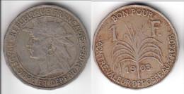 GUADELOUPE **** 1 FRANC 1903 **** EN ACHAT IMMEDIAT !!! - Antillas