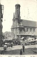 Finistère- Brest -L'Eglise Saint-Louis, Jour De Marché. - Brest