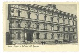 CARTOLINA -  ASCOLI PICENO - PALAZZO DEL GOVERNO  - VIAGGIATA NEL 1937 - Ascoli Piceno