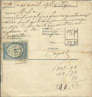 Algérie Timbre  Fiscal  Chiffres D´Oudine N.D.surchargé25  Sur Reçu  En 1830 (Lot 5) - Autres