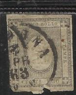 ITALIA ITALY ASI ANTICHI STATI: 1861  REGNO SARDEGNA KINDOM PER STAMPATI 1 CENT. GRIGIO BRUNASTRO ANNULLATO USED - Sardegna
