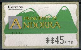 ANDORRE Espagnol:  Timbre De Distributeurs Neuf