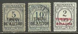 ROMANIA ROMANA Rumänien Revenue Fiscal Timbru Fiscal Taxa De Plata Stempelmarken Steuermarken - Fiscale Zegels