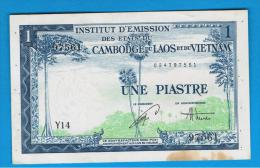 FRENCH  INDO CHINA -  1 Piastre / 1 Dong ND (1953)  P-105 - Indochina