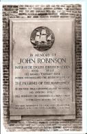Netherlands Postcard - Gedenksteen John Robinson I/d Doopkapel V/d Pieterskerk, Leiden    PM2031 - Leiden