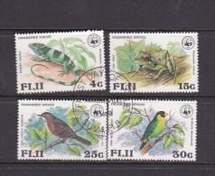 Fiji 1979 WWF  Iguana , Birds Used Set - Fiji (1970-...)