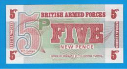 GRAN BRETAÑA - GREAT BRITAIN  -  5 New Pence ND SC  P-M44 - Fuerzas Armadas Británicas & Recibos Especiales