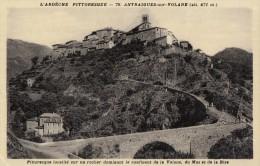 CPA - Antraigues Sur Volane - Pittoresque Localité Sur Un Rocher Dominant Le Confluent De La Volane Du Mas Et De La Bise - Autres Communes