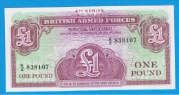 GRAN BRETAÑA - GREAT BRITAIN  -  1 Pound ND  SC  P-M36 - Fuerzas Armadas Británicas & Recibos Especiales
