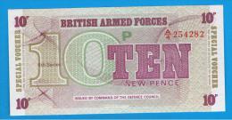 GRAN BRETAÑA - GREAT BRITAIN  -  10 Pence ND  SC  P-M45 - Fuerzas Armadas Británicas & Recibos Especiales