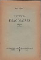 Les Cahiers Max Jacob 2  Lettres Imaginaires Presentation Cocteau - Auteurs Classiques