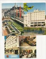 CPM 65 Lourdes Lot 3 Cartes Hôtels Croix Des Touristes Et Christina  Neuves TBE - Autres Communes