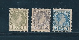 Monaco  Timbre De 1885   N°1 A 3   Neuf *   Charnière (cote 220€) - Monaco