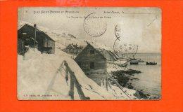 Saint Pierre Et Miquelon - La Route Du Cap à L'Aigle En Hiver (en L´état:pli Coin) - Saint-Pierre-et-Miquelon