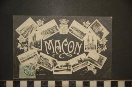 CP, 71, Macon Multivues Souvenir Edition PH H Romand Macon - Macon