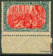 5 Mark Germania Kriegsdruck Unterrandmarke Postfrisch Mi. Nr. 97BII - Allemagne