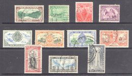 New Zealand 1946 Peace Set Of 11 Used - 1907-1947 Dominion