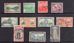 New Zealand 1946 Peace Set Of 11 Used - - 1907-1947 Dominion